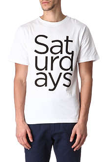 SATURDAYS SURF NYC Logo Stack t-shirt