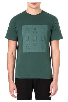 SATURDAYS SURF NYC Slab Box print t-shirt