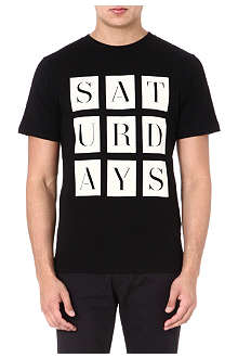SATURDAYS SURF NYC Stencil-print t-shirt