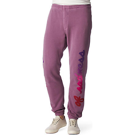 WARRIORS OF RADNESS Printed jogging bottoms (Magenta