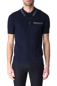 FARRELL Airtex lace-knit polo shirt
