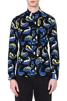 KENZO Fish and wave print shirt
