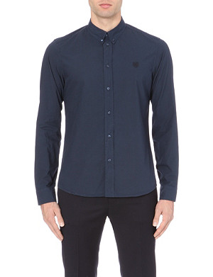 KENZO Slim-fit branded cotton shirt