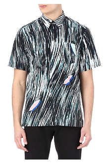KENZO Wave print cotton shirt