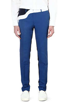 KENZO Wave-panel slim-fit trousers