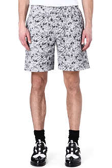 KENZO Scribble-print cotton shorts