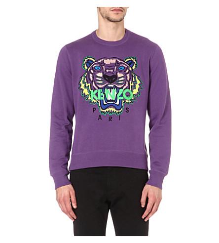 KENZO Tiger sweatshirt (Purple