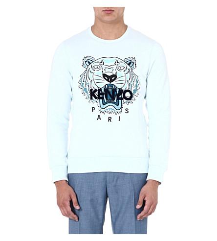 KENZO Tiger sweatshirt (White/aqua