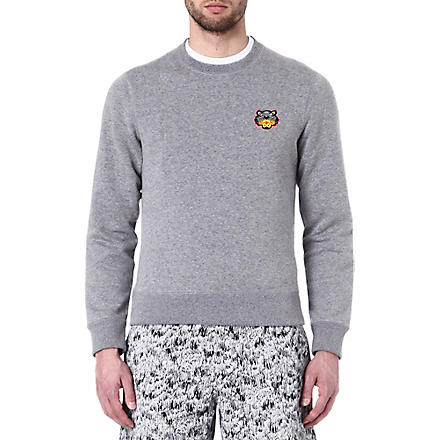 KENZO Tiger logo badge sweatshirt (Grey