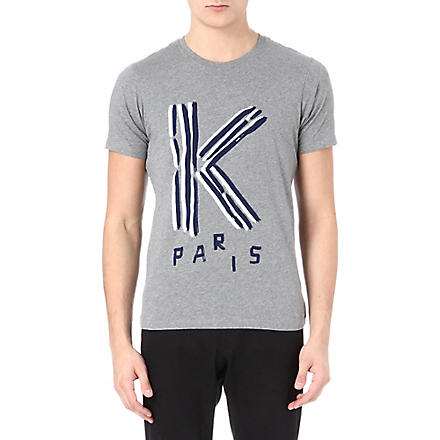 KENZO Logo cotton t-shirt (Grey