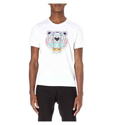 KENZO Tiger-print t-shirt (White