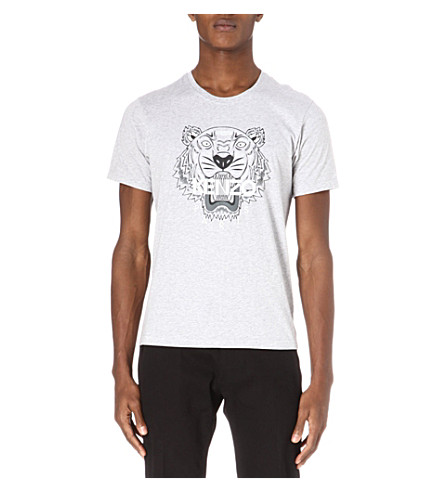 KENZO Tiger-print t-shirt (Grey
