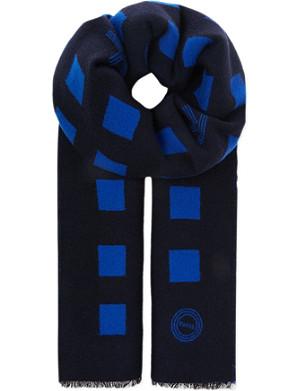 KENZO Squares wool scarf
