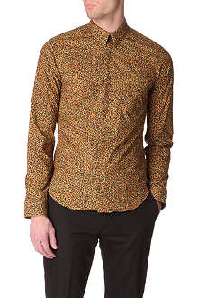 KENZO Printed slim-fit single-cuff shirt