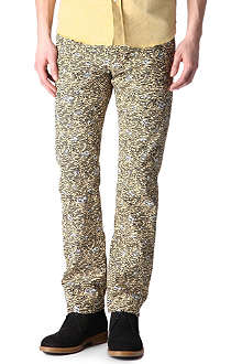 KENZO Tiger print slim-fit straight jeans