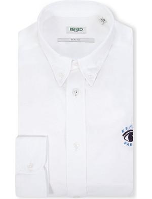 KENZO Eye slim-fit single-cuff shirt