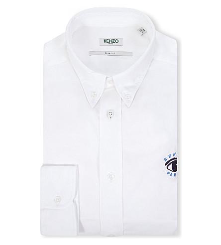 KENZO Eye slim-fit single-cuff shirt (White