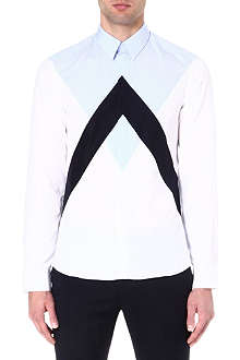 KENZO Panelled colourblocked shirt