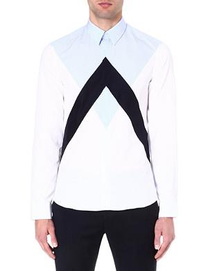 KENZO Panelled colourblocked shirt