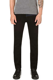 KENZO Contrast-panel slim-fit tapered jeans