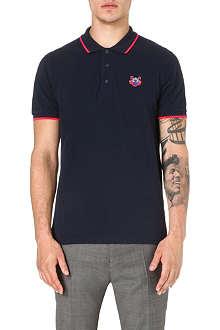 KENZO Contrast-trim polo shirt