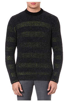 KENZO Striped waffle-knit jumper