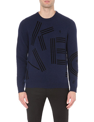 KENZO Logo-intarsia knitted jumper
