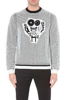 KENZO Appliquéd knitted jumper