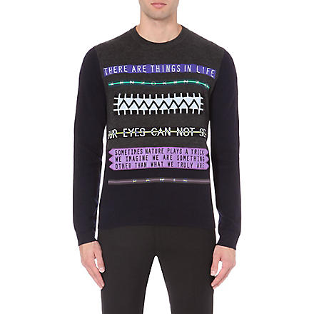 KENZO Our Eyes Cannot See knitted jumper (Navy