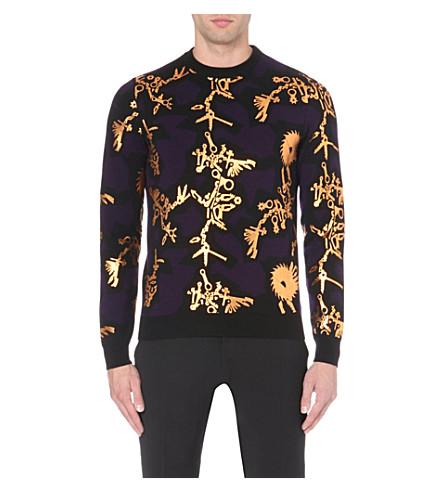 KENZO Metallic tool-print jumper (Black/gold