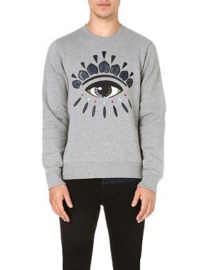 KENZO Eye-embroidered sweatshirt