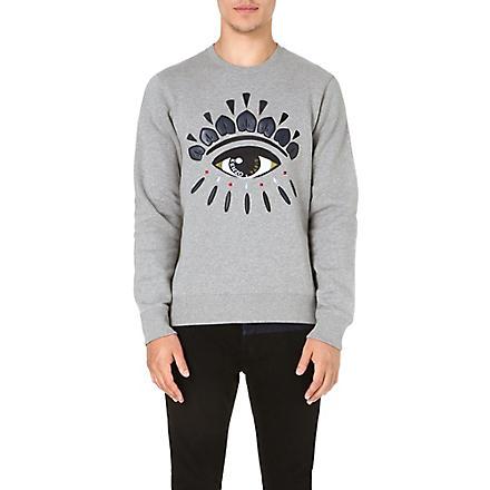 KENZO Eye-embroidered sweatshirt (Grey