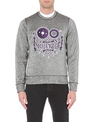 KENZO Metallic embroidered sweatshirt