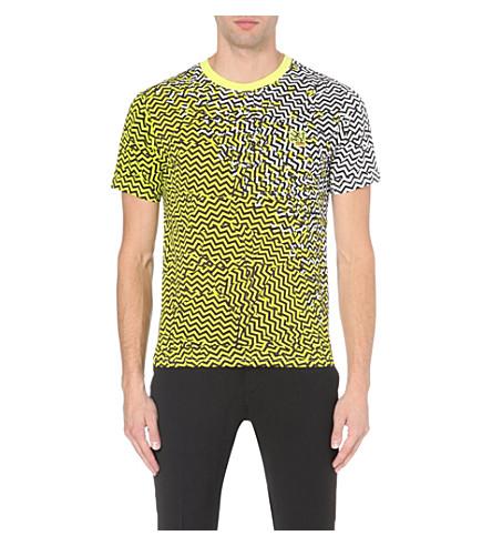 KENZO Zig-zag t-shirt (Yellow/ drk grey