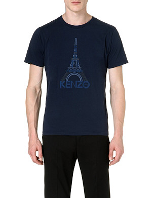 KENZO Eiffel Tower cotton t-shirt