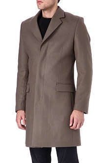 HUNTER GATHER Single-breasted melton coat