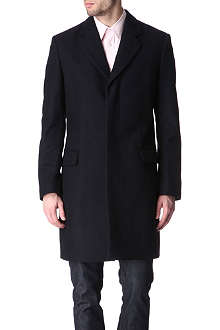 HUNTER GATHER Melton wool single-breasted coat