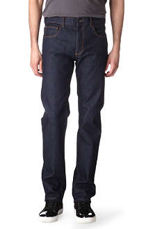 HUNTER GATHER Slim-fit straight jeans