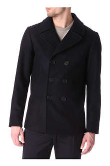 HUNTER GATHER Melton wool peacoat
