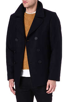 HUNTER GATHER Melton peacoat