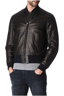HUNTER GATHER Leather bomber jacket
