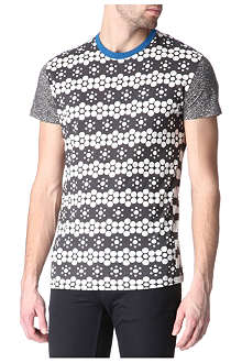 HUNTER GATHER Mixed-print t-shirt