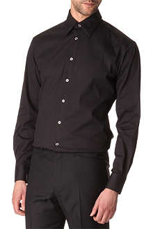 HUNTER GATHER Poplin classic-fit shirt
