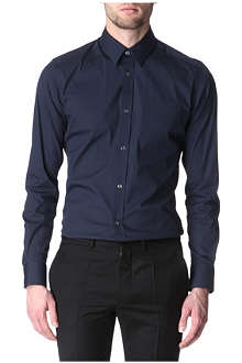 HUNTER GATHER Stretch-poplin tailored-fit single-cuff shirt