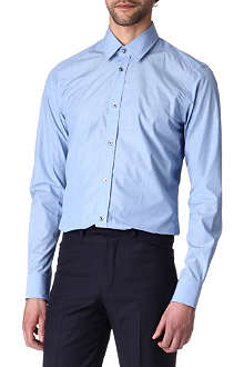 HUNTER GATHER Poplin tailored-fit shirt