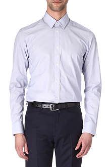 HUNTER GATHER Tailored-fit micro-stripe shirt