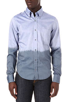 HUNTER GATHER Slim-fit dip-dye shirt