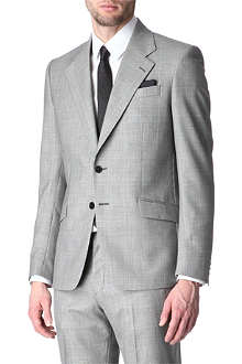 HUNTER GATHER Checked single-breasted suit jacket