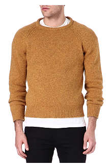 HUNTER GATHER Shetland wool-cashmere jumper
