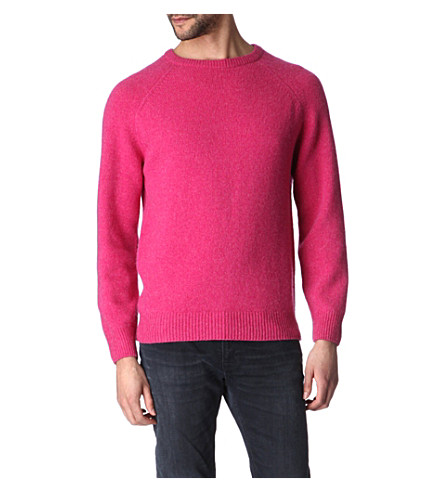 HUNTER GATHER Shetland lambswool and cashmere-blend jumper (Pink